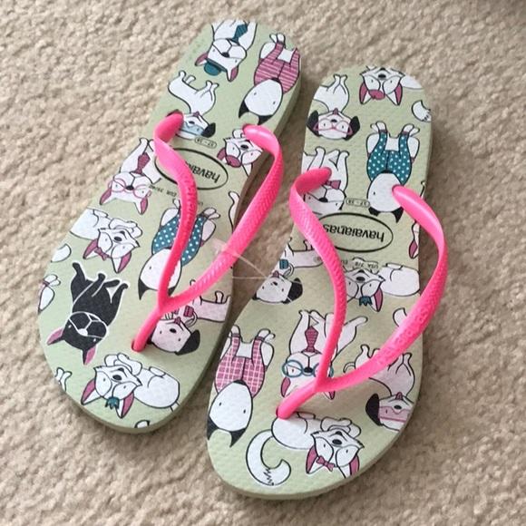 Havaianas Shoes - HAVAIANAS SLIM PETS FLIP FLOPS APPLE GREEN